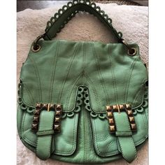 Betsey Johnson green shoulder handbag NWOT New, never used! In perfect condition and such a fun unique purse by Betsey Johnson! No trades! ✨ Follow me on Instagram: @milanlexi and my blog: milandarling.com!  Betsey Johnson Bags