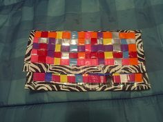 duck tape clutch. I showed this to my family & ended up makin them each one of there own that i didn't take a pic of, I made 6 clutches & 2 purses.