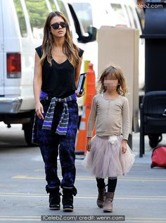 Jessica Alba brought her little princess Honor to work on the set of