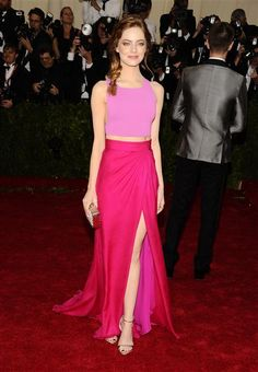 """Emma Stone attends The Metropolitan Museum of Art's Costume Institute Benefit Gala celebrating """"Charles James: Beyond Fashion"""" in New York on May 5, 2014."""