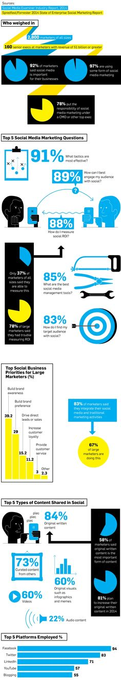 #Infographic: A Social Media #Marketing Strategy Snapshot - Even the big guys struggle to measure ROI