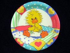 Suzy's Zoo Baby Shower Birthday Party Supplies Witzy Yellow Duck Plates Napkins | eBay