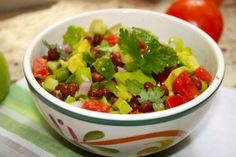 Green and Red Tomato Avocado Salsa ~ Lauren Kelly Nutrition