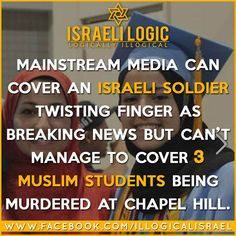 I did not see any politicians going to Chapel Hill to express their outrage!!! I did not see the wide media coverage!!! Am I missing something here? Rt Hon David Cameron, where are you? Germany's Chancellor - where are you? French President - where are you?? Israel's murderer - where are you?? Mahmood Abbas - where are you?? Muslims embassy reps - where are you? #ChapelHillShooting