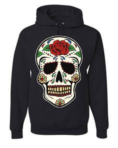 d1532d9b Sugar Skull Calavera Hoodie Dia de los Muertos Day of the Dead Sweatshirt.  Cute Graphic t-shirts