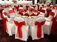 diy glitter vases for wedding decoration ideas: Ruby Wedding, Wedding Set Up, Wedding Stage, Wedding Colors, White Wedding Decorations, Quince Decorations, Wedding Centerpieces, Red And White Weddings, Christmas Wedding
