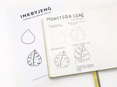 Here's another drawing tutorial. This has shown up in my spreads a few times and I absolutely love drawing them because they are super easy but instantly adds a pop to any spread. Grab your template here for easy tracing of the teardrop shape. If you tried out this tutorial in your j