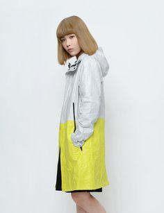 Thanatos Slice - TYVEK® Coat Light Gray Solar Yellow