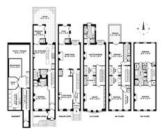 Perfect townhouse floor plan via the realestalker for Planimetrie georgiane