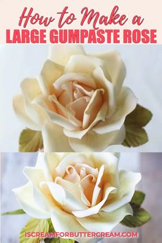 See the post for more details and the slower and narrated video! This is a detailed guide to creatin Royal Icing Flowers, Fondant Flowers, Clay Flowers, Cake Fondant, Fondant Figures, Fondant Rose Tutorial, Cake Topper Tutorial, Buttercream Flowers Tutorial, Cake Decorating Techniques