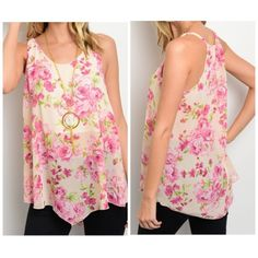 """Peach Floral Spring Top ✨Comes in sizes Small, Medium & Large. Please comment below which size you would like to purchase✨ Beautiful sheer lightweight peach top that has a beautiful floral print all over. Top is sheer and brand new without tags! Straight from vendor  100% Polyster. Length: 26"""" •No Damages•No Trades•No PayPal• Tops"""
