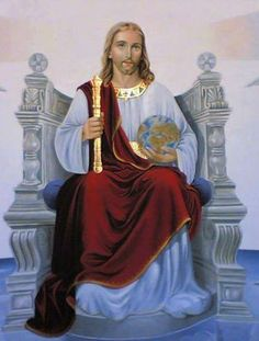 The Solemnity of Our Lord Jesus Christ, King of the Universe – the last Sunday of the Liturgical Year Jesus Our Savior, Jesus Art, King Jesus, Jesus Is Lord, Religious Pictures, Religious Icons, Religious Art, Religious Tattoos, Pictures Of Jesus Christ