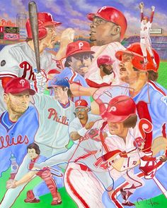 Philadelphia  Phillies by artist Perry Milou