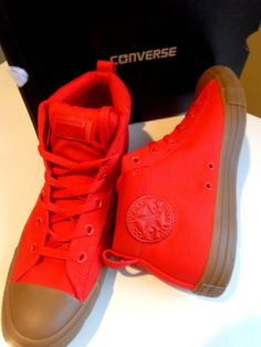 01100fb53336 Details about CONVERSE CTAS STREET MID 155707C CASINO RED DARK HONEY NEW