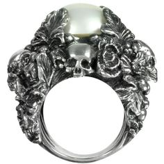 Ugo Cacciatori Sterling Silver and Light Pearl Foliage and Skulls Ring and other apparel, accessories and trends. Browse and shop 16 related looks.