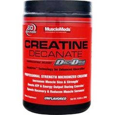 100% guaranteed! Buy one item or buy a lot & save a lot more! MUSCLEMEDS MUSCLEMEDS Creatine Decanate Unflavored 10.58 oz