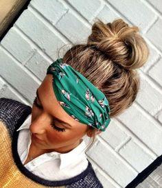 Hummingbird Stretchy Twisted Headband - Sueded Silk Stretchy Bird Headband Turban Hair Band