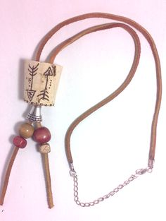 Fifty-3   Arrow Cork Bead Accent Necklace   Online Store Powered by Storenvy