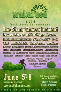 Wakarusa Music Festival 2014 final lineup annoucement came out today!