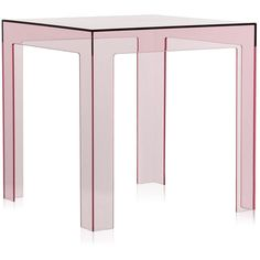 Kartell Jolly Side Table - Pink (575 BRL) ❤ liked on Polyvore featuring home, furniture, tables, accent tables, decor, house, pink, pink table, kartell side table and pink side table