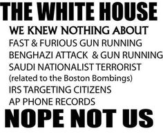 Geez, you guys, stop asking us! We told you we don't know about anything. Just go away & let us continue running this country. Stop asking questions. We know what we're doing, trust us !!!