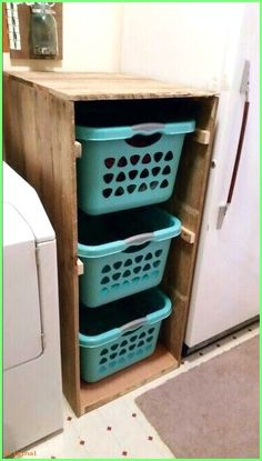 Diy Furniture - 28 DIY Laundry Room Storage Center - The laundry room is an excellent place to e. Laundry Sorter, Laundry Room Organization, Laundry Room Design, Laundry Rooms, Organization Ideas, Small Laundry, Bathroom Laundry, Laundry Storage, Storage Ideas