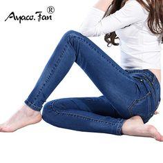 Slim Jeans For Women Skinny Jeans Woman Blue Denim Pencil Pants Stretch Full Length Lady Jeans Blue Pants Calca Feminina parbarshop Denim Skinny Jeans, Slim Jeans, Wide Leg Jeans, Denim Pants, High Waist Jeans, Women's Jeans, Blue Trousers, Blue Pants, Trousers Women