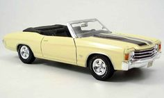 Chevrolet Chevelle SS454 yellow 1972 Maisto diecast model car 1/18 - Buy/Sell Diecast car on Alldiecast.us
