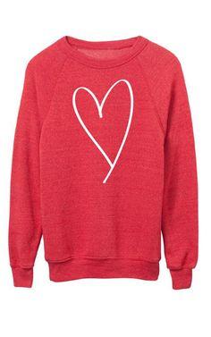 heart sweatshirt | ily couture