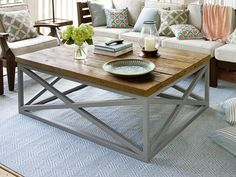 Sunroom coffee table (An Indoor-Outdoor Addition That Does It All : Outdoors : Home & Garden Television)