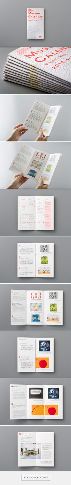 Museum of Contemporary Art Tokyo | Museum Calendar by UMA / design farm