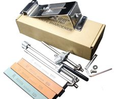 stainless steel Electroplating process  cooking tools knife sharpener system 4pcs sharpening stone apex edge pro