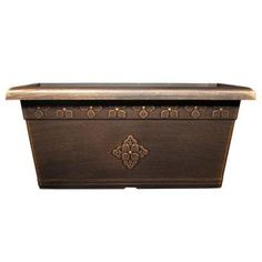 Dress up your windows with these 20 in. x 10 in. copper colored window boxes.