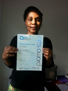PAYP participant gets her Arts Awards Certificate!