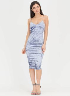 STYLE # 153288 PLUS SIZE CRUSHED VELVET CAMI DRESS   Curve Party ...