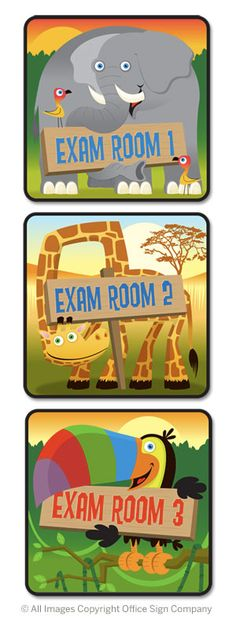 pediatrics room signage idea | Door Signs - Colorful Exam Room Signs, Custom Office Signs, Pediatric ...