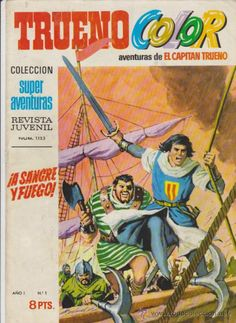 Trueno Color. Bruguera 1969. Lote de 58 ejemplares del 1 al 58. Comics Vintage, Old Comics, Nostalgia, Comic Covers, Caricature, Childhood, Geek Stuff, Memories, Cartoon