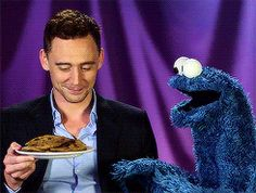Tom Hiddleston and cookies. What more do you need?