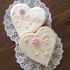 Love/Congratulation cookies by Sweet n Pretty