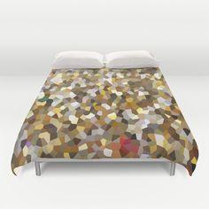 #Brown #mosaic #duvet cover