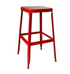 Aurora Industrial Stool - Tomato Red.  Peri with a work table?