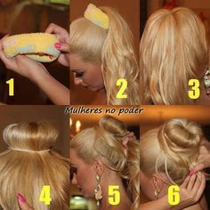 So much easier than rolling the sock down your ponytail!