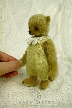 Demelza Miniature OOAK Mohair Artist Teddy Bear by aerlinnbears