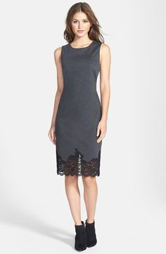 @nordstrom lace hem sheath dress. #nordstrom - love this dress for business events.