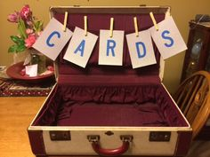 """The beginnings of our card """"box"""" at our wedding theme. final product AFTER the wedding. Hops Wedding, Wedding Pins, Rustic Wedding, Dream Wedding, Wedding Day, Wedding Themes, Wedding Decorations, 60 Wedding Anniversary, Rockabilly Wedding"""
