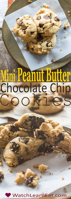 If you love the pairing of peanut butter and chocolate, you'll love these Mini Peanut Butter Chocolate Chip Cookies, which can easily be made gluten-free.