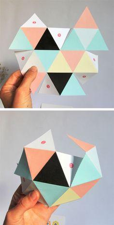 Объемные геометрические фигуры из бумаги