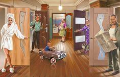 Просмотреть иллюстрацию Коммунальная квартира из сообщества русскоязычных художников автора Валерий Барыкин в стилях: Реклама, нарисованная техниками: Другое.