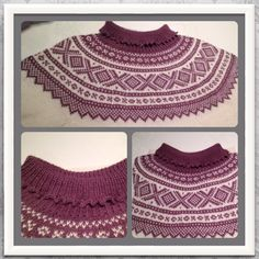 Marius genser, variasjon hals Norwegian Knitting, Baby Knitting, Norway, Crocheting, Knit Crochet, Crochet Earrings, Sweaters, Pattern, Pictures