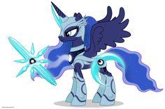 Luna in armor by ~Larsurus on deviantART
